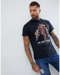 Abuze London - Abuze Ldn Bus Bot Print T-shirt - Lyst