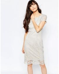 SELECTED   Charlotte Lace Pencil Dress   Lyst