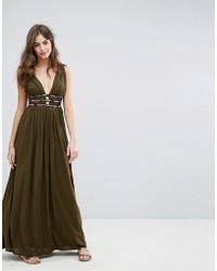 French Connection | Hasan Beading Halter Maxi Dress | Lyst