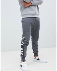 f0c629178e16 Nike Air Joggers In Skinny Fit In Navy 886048-452 in Blue for Men - Lyst