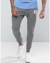 11 Degrees - Skinny Joggers In Grey - Lyst