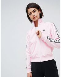 Fred Perry - Track Jacket With Logo Tape - Lyst