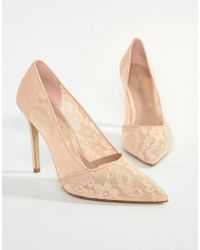 Miss Selfridge - Lace Pointed Court - Lyst