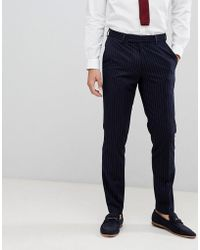 French Connection - Slim Pinstripe Suit Trousers - Lyst