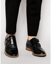 Shoe The Bear - Hoe The Bear Leather Monk Shoes - Lyst