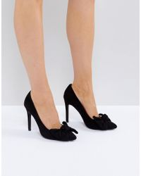 Truffle Collection - Bow Trim Point High Heels - Lyst
