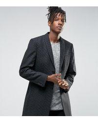 Noak - Skinny Smart Overcoat In Dogstooth - Lyst