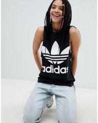 8e3e356d676af1 Adidas Originals Originals Loose Cropped Tank With Trefoil Logo in ...