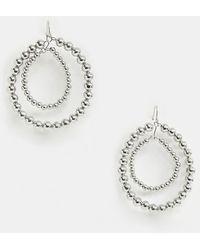 Pieces - Delayla Hoop Beaded Earrings - Lyst