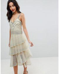4f33fa12 ASOS Asos Red Carpet Premium Embellished Midi Dress With Plunge ...