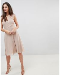 Elise Ryan - Midi Dress With Lace Detail - Lyst