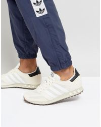 Lyst Adidas Originals La Trainer Og Trainers In Beige By9321 In