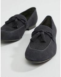 Dune - Tassel Loafers In Navy Suede - Lyst