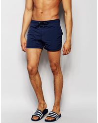 Pull&Bear - Swim Shorts In Navy - Lyst