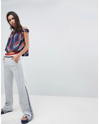 Tommy Hilfiger - Gigi Hadid Zip Flare Tracksuit Bottoms With Stipe Waistband - Lyst