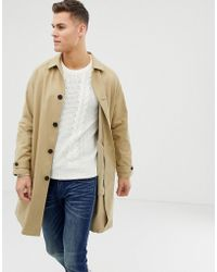 ASOS - Longline Trench Coat In Camel - Lyst