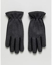 Jack & Jones - Leather And Wool Gloves - Lyst