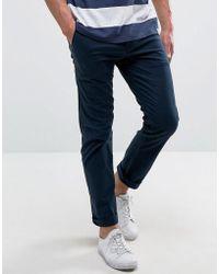 Hollister - Skinny 5 Pocket Trousers In Blue - Lyst