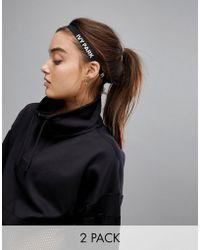 Ivy Park - 2pk Skinny Logo Headbands In Black - Lyst
