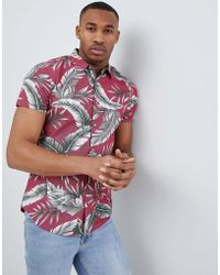 Threadbare - Tropical Print Shirt - Lyst