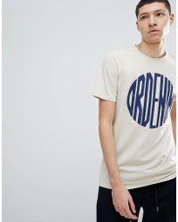 Dr. Denim - Patrick Logo T-shirt Beige Sphere - Lyst