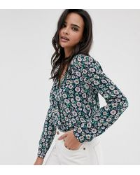 Esprit - Daisy Print Blouse In Navy - Lyst