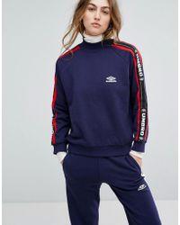 Umbro - Oversized High Neck Sweatshirt With Tape Logo - Lyst