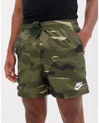 Nike - Jersey Shorts In Camo Print In Green Aq0600-222 - Lyst