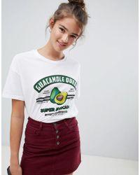 Pull&Bear - Guacamole Queen Motif T-shirt - Lyst