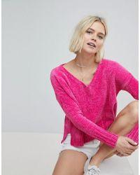 Hollister - Chenielle Knit Jumper - Lyst