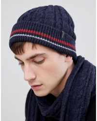 SELECTED - Cable Beanie - Lyst