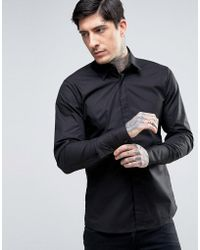 Rogues Of London - Skinny Fit Stretch Shirt - Lyst