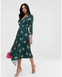 3b3e6164a224 Ted Baker - Anabell Midi Skirt In Flourish Print - Lyst