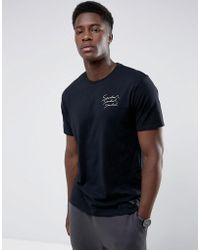 Mango - Man Neutral Print T-shirt In Black - Lyst