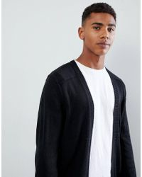 Only & Sons - Open Drape Cardigan - Lyst