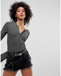 NYTT - Long Sleeved Henley Body - Lyst