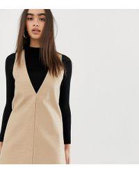 UNIQUE21 - Structured Mini Dress In Faux Croc - Lyst