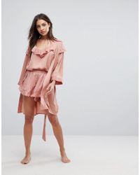 Y.A.S | Ruffle Pyjama Short With Gold Polka Dot | Lyst