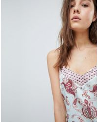 New Look - Satin Print Pyjama Cami Top - Lyst