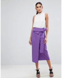 ASOS - Tailored Origami Fold Wrap Pencil - Lyst