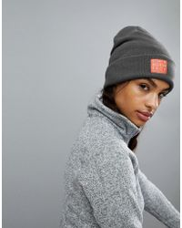 The North Face - North Face Grey Beanie - Lyst