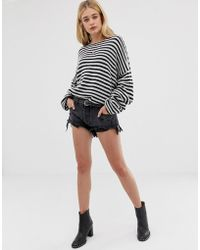 One Teaspoon - Rollers Low Waist Relaxed Fit Short With Destroyed Hem - Lyst