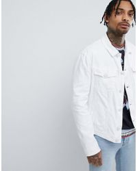 Versace Jeans - Denim Jacket In White - Lyst