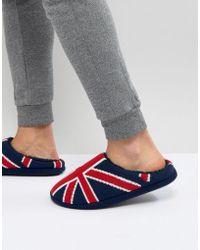Dunlop - Union Jack Slip On Slippers - Lyst