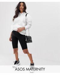 946dcb791e512e ASOS Asos Design Maternity Over The Bump legging Short With Lace Hem ...