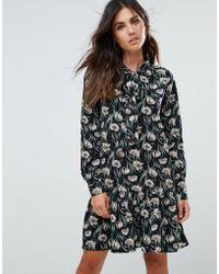 Liquorish - Floral Mini Dress With Flounce - Lyst