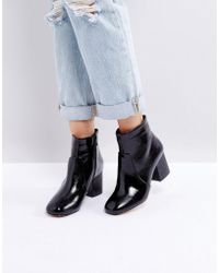 Oasis - Block Heeled Ankle Boot - Lyst