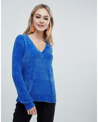 Soaked In Luxury - Chenile V Neck Sweater - Lyst