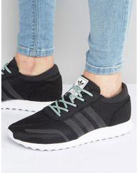 adidas Originals - Los Angeles Trainers In Black Bb1116 - Lyst