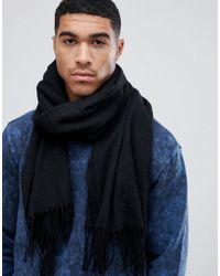 ASOS - Blanket Scarf In Black Recycled Polyester - Lyst